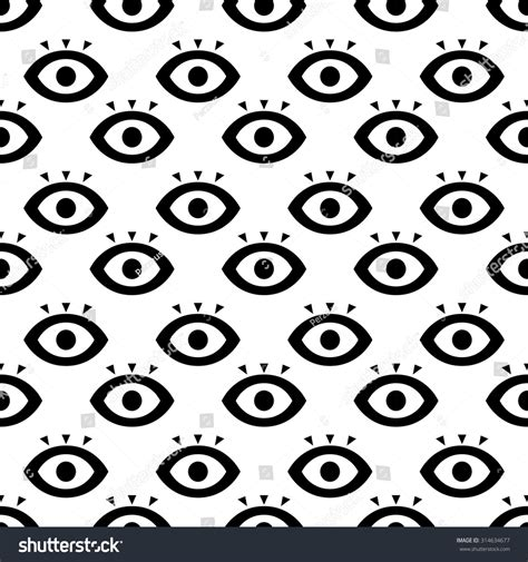 seamless eye pattern seamless eyes design concept pattern vector stock vector