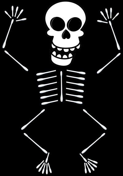 q tip skeleton craft template how to make q tip skeletons holidays
