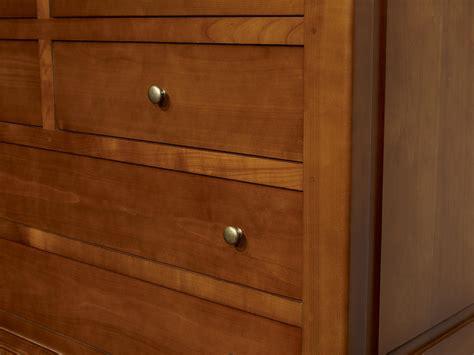 commode 7 tiroirs en merisier massif de style louis