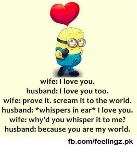I Love My Husband Meme - wife i love you husband i love you too wife prove it