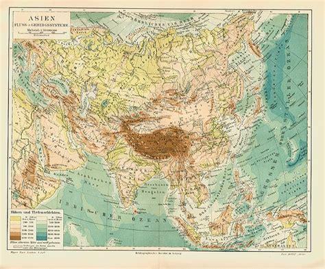 Asiat Gebirge by Asien Fl 252 Sse Gebirge Politik V 246 Lker Kultur Karten China