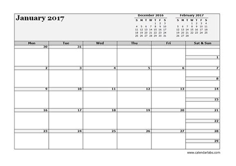 Calendar 3 Month View 2017 Three Month Calendar Template Free Printable Templates