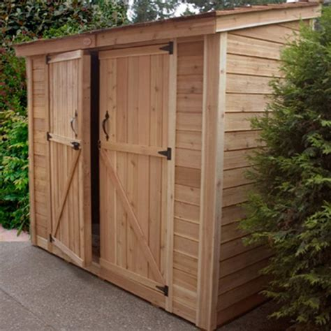 Exterior Storage Sheds Outdoor Living Today Ss84d Spacesaver 8 X 4 Ft