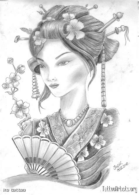tattoo geisha sketch the japanese geisha tattoo drawing tattoos book 65 000