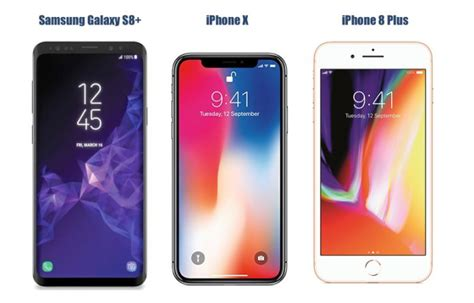 Samsung S9 Plus 2018 samsung galaxy s9 plus vs iphone x vs iphone 8 plus price in india specifications features