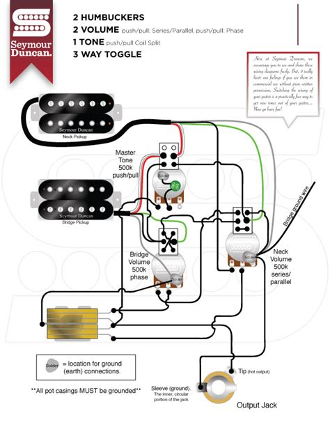 wiring diagram 2 humbucker volume 1 tone wiring diagram