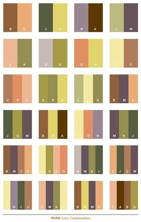 color combinations with warm color schemes color combinations color palettes for
