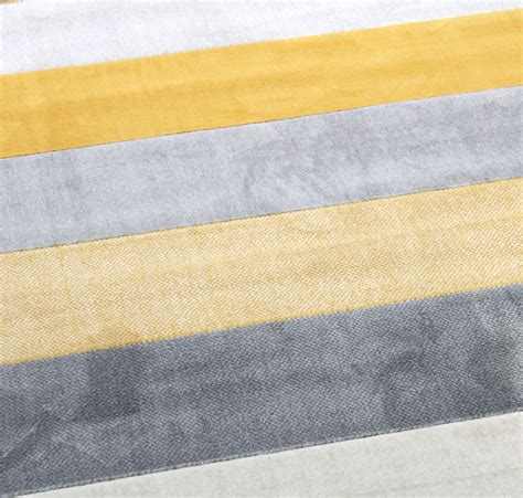 Grey And Mustard Rug by New Venus Stripe Mustard Gold Grey Large