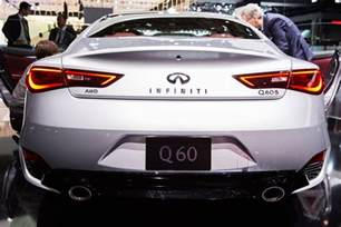 the new infiniti q60 is a svelte luxury sports coupe with