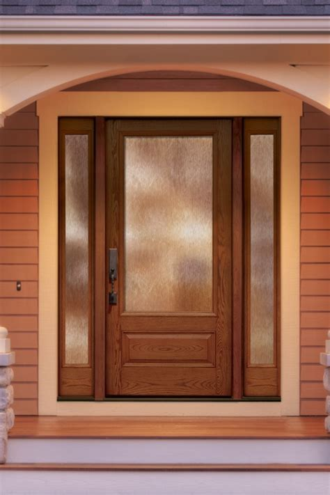 Cedar Exterior Doors Thermatru Classic Craft Oak Fiberglass Door Style Cc90xn With Sidelite Cc2020xnsl Glass