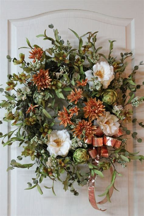 Country Wreaths For Front Door Front Door Wreath Summer Wreath Fall Wreath Country Wreath Floral