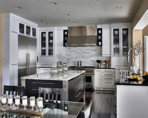 stunning kitchen designs stunning white contemporary kitchen