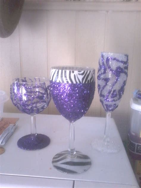 Diy Glasses diy wine glasses use any glue that dries up clear make