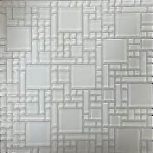 shop instant mosaic white versailles mosaic glass wall