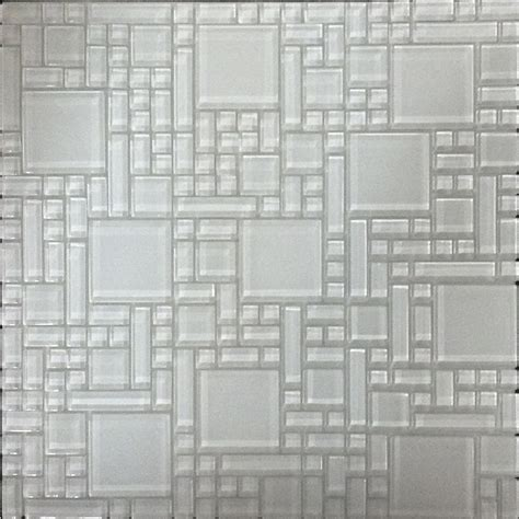 lowes wall tiles for bathroom shop instant mosaic white versailles mosaic glass wall