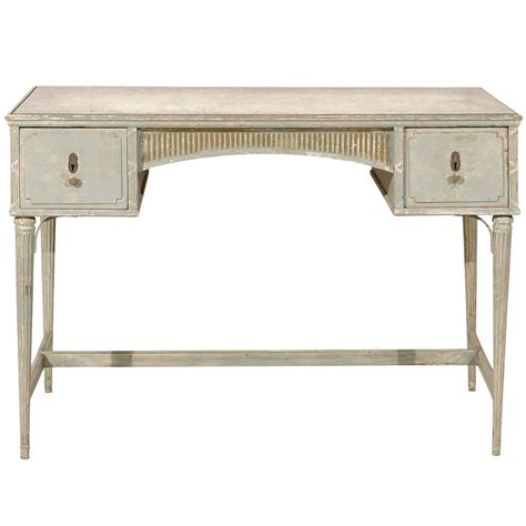 Painted Wood Desk by An Austrian Painted Wood Desk Table With Antiqued Mirror Top At 1stdibs