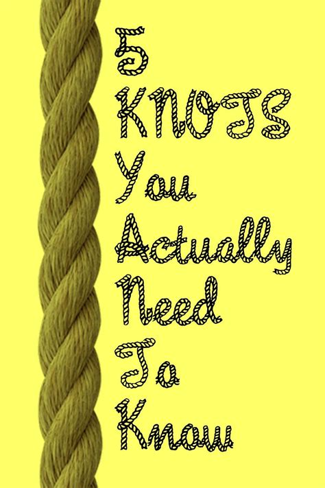 the knots 5 basic knots everyone should how to tie