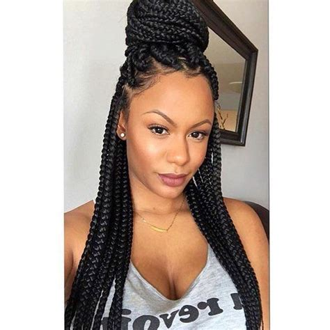 single plaits hair styles 20 awesome single box braid styles hair pinterest