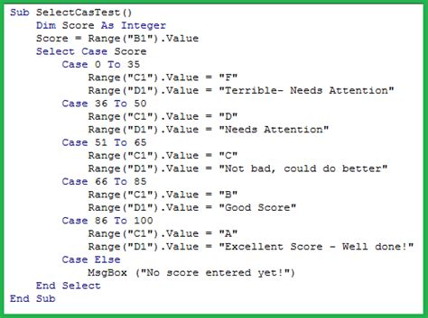how to select sheets excel tutorials excel vba select case statement