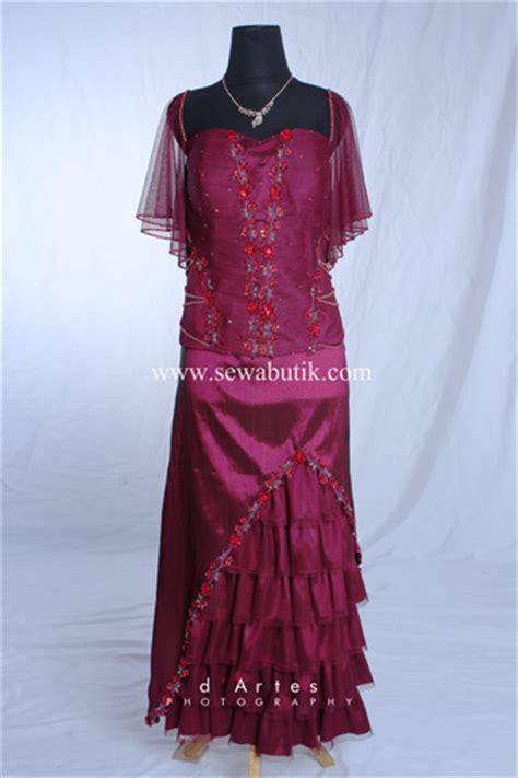 Kebaya Gaun Mahany Maroon Gaun Pesta sewabutik sewa gaun pesta kebaya jas pria