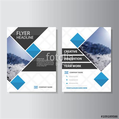 corporate jacket layout quot blue vector corporate business proposal brochure leaflet
