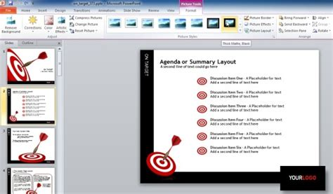 how to edit templates on target darts template for powerpoint presentations