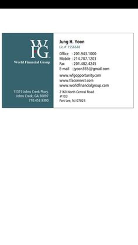 wfg business card template 1000 images about world financial wfg on