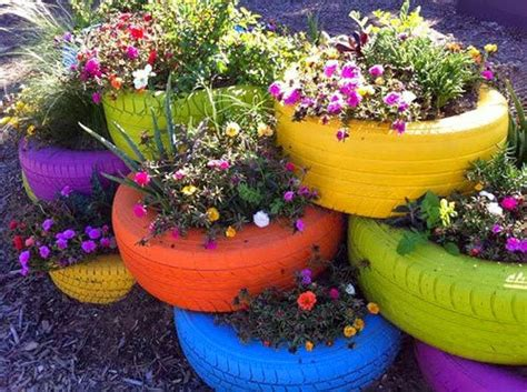 Using Tyres As Planters by 8 Brilliant Ideas For Upcycling In Your Garden Garden