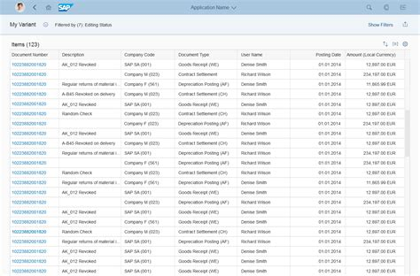 layout view shows a report on the screen list report floorplan sap fiori design guidelines