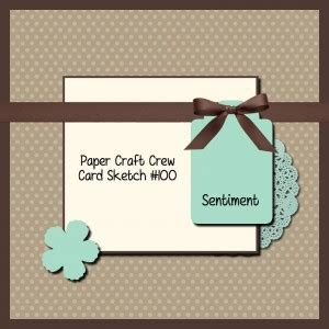 Paper Craft Blogs - pcccs 100 card sketch with paper craft crew