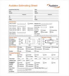 mechanic sheet template repair estimate template 18 free word excel pdf