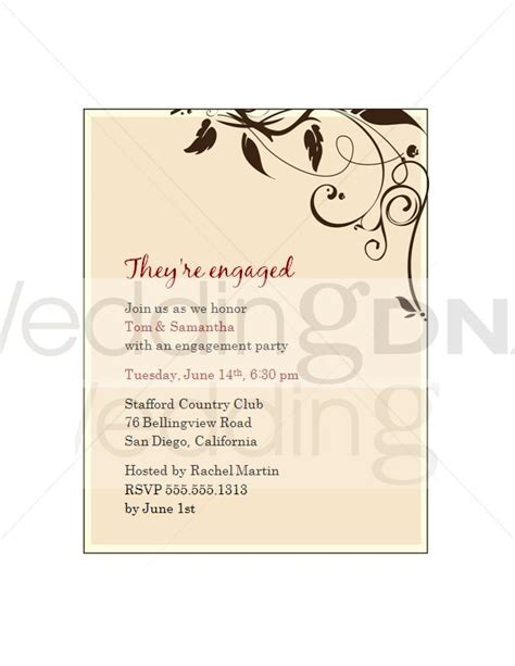 engagement party invites template best template collection