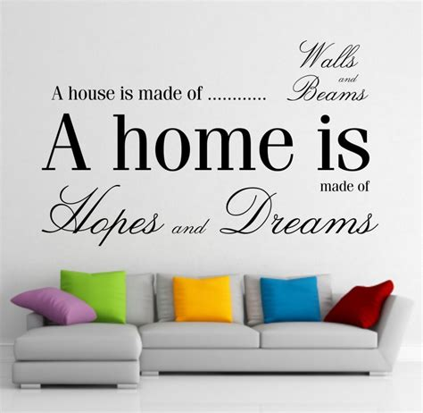 quotes about home decor give a touch of creativity to your home with the wall stickers