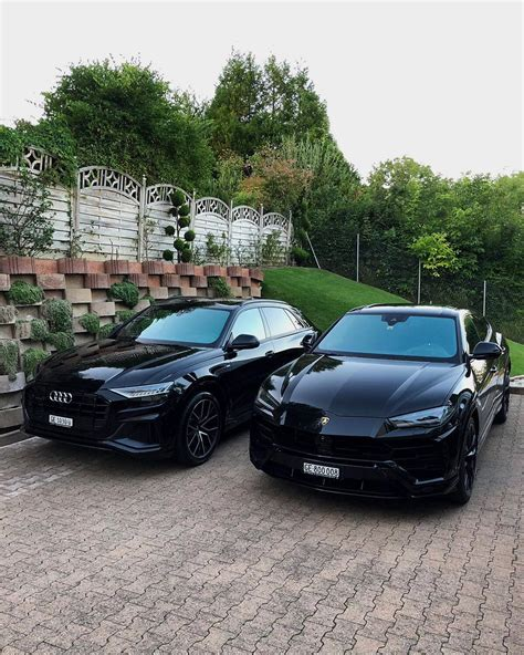 Audi Q8 Black by Lamborghini Urus Meets Audi Q8 In Switzerland And Both