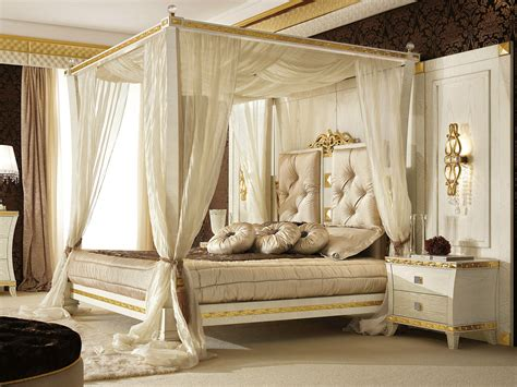 luxury canopy beds canopy bed with upholstered headboard gold diamond