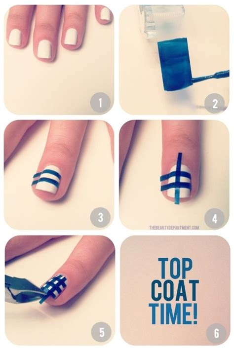 easy nail art designs using scotch tape 15 diy nail tutorials with scotch tape
