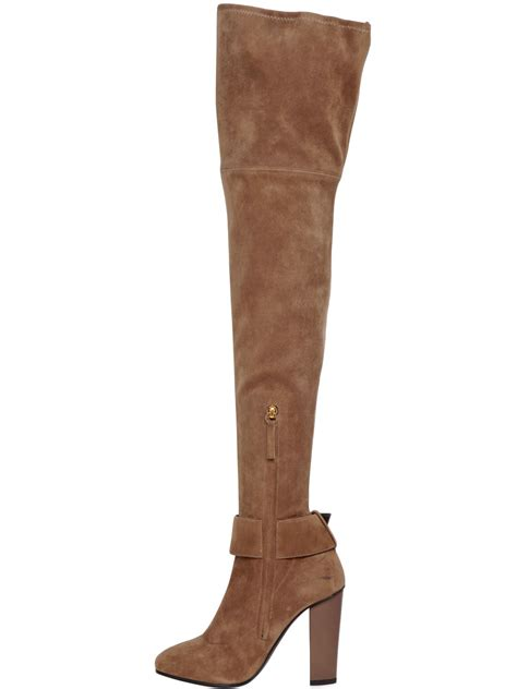 giuseppe zanotti 105mm stretch suede the knee boots