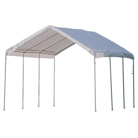 Portable Awnings by Shelterlogic Portable Garage Canopy Carport 10 X 20