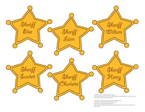 woody sheriff badge template sheriff badges editable printable pdf for cowboy or story