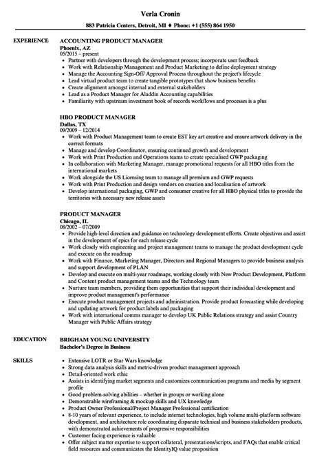 Product Manager Resume by Product Manager Resume Sles Velvet