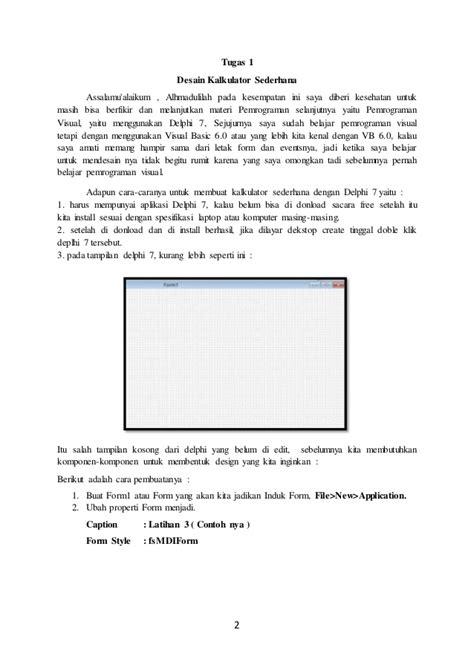 tutorial kalkulator delphi 7 membuat kalkulator sederhana dengan delphi 7