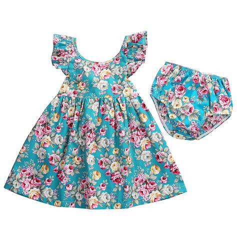 toddler dresses toddler infant baby dress blue floral ruffle
