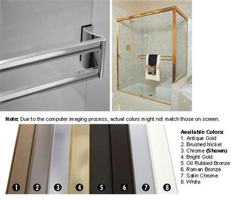 Sliding Shower Door Towel Bar Technologylk Chrome Sliding Frameless Shower Door Towel Bar Kit 30 Quot Home