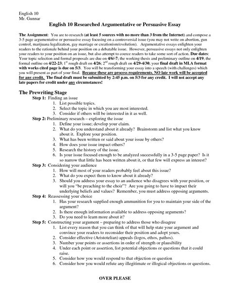 Argumentative Essay Template by Sle Resume Argumentative Essay Sle Exles Resume Daily