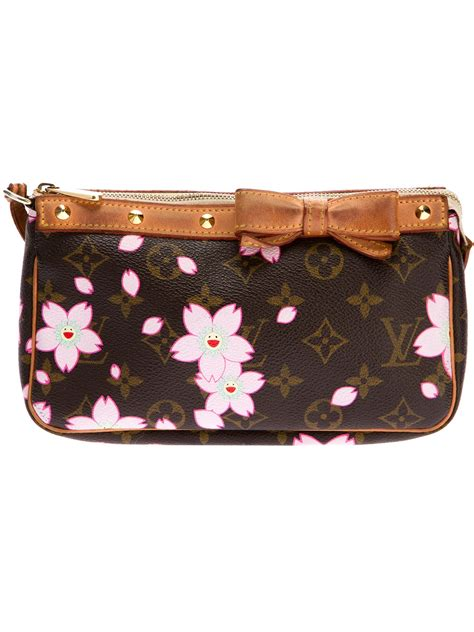 lyst louis vuitton monogram handbag  brown