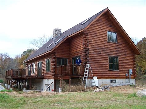Sikkens Log Cabin Stain by Salem Road House Construction Progress Of Our Lincoln Log Home