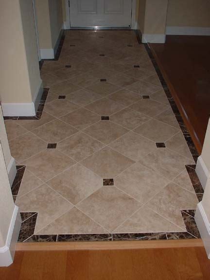 would like to see some neat tile designs for entryway