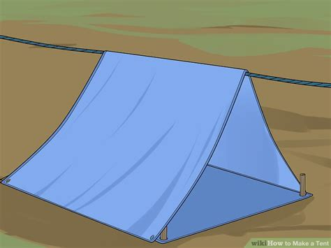 how to build a tent how to make a tent 13 steps with pictures wikihow