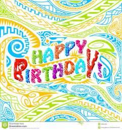 typographie de joyeux anniversaire de style de tiki photo