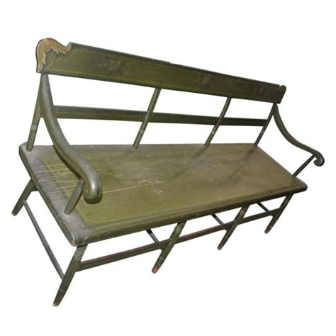 hitchcock bench antique hitchcock green style bench